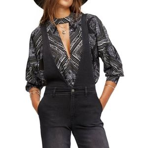 FREE PEOPLE WALKING ON A DREAM TUNIC BLOUSE